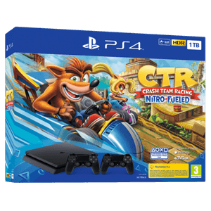 Playstation 4 Slim 1TB + Crash Team Racing + 2 Dualshock 4 V2