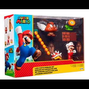 Diorama Super Mario: Castillo de Lava