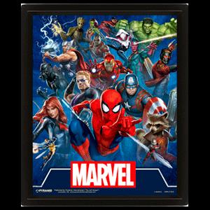 Cuadro 3D Marvel: Cinematic Icons
