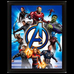Cuadro 3D Marvel: Vengadores Endgame Action
