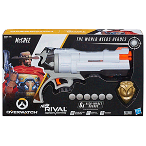 Pistola Nerf Rivals Overwatch: McCree (REACONDICIONADO)