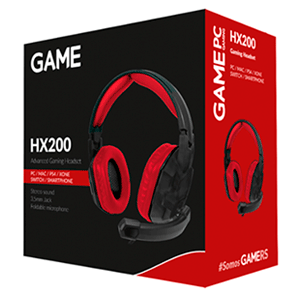 GAME HX200 Gaming Headset PC-PS4-XONE-SWITCH-MOVIL - Auriculares Gaming