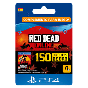 Red Dead Online 150 Gold Bars PS4