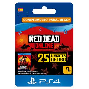 Red Dead Online 25 Gold Bars PS4