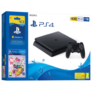 Playstation 4 Slim 1Tb + Suscripción 12 meses PS Plus + Melbits World