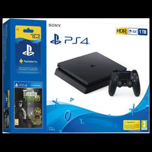 Playstation 4 Slim 1Tb + Suscripción 12 meses PS Plus + Timothy vs Aliens