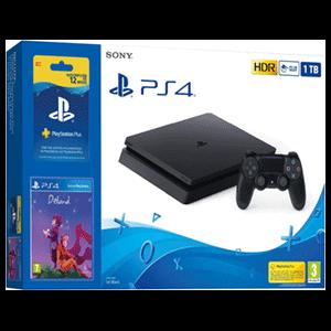 Playstation 4 Slim 1Tb + Suscripción 12 meses PS Plus + Deiland