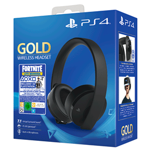 Auriculares Wireless Headset Sony - Gold + Fortnite - Auriculares Gaming