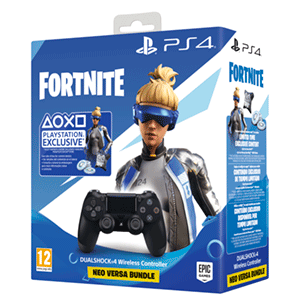 Pack Controller Sony Dualshock 4 Black + Fortnite