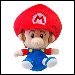 Peluche 16cm Baby Mario