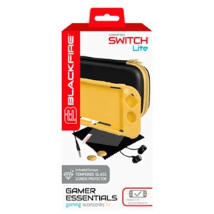 Gamer Essentials Kit Amarillo Blackfire para Nintendo Switch Lite