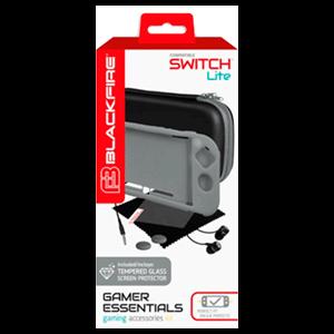 Gamer Essentials Kit Gris Blackfire para Nintendo Switch Lite