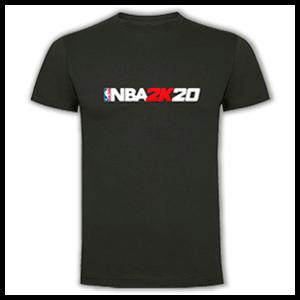 Camiseta Algodón Talla S NBA 2K20