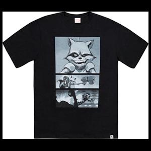 Camiseta Marvel X Wismichu Rocket Talla XL