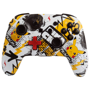 Controller Bluetooth PowerA Pikachu Graffiti -Licencia oficial-