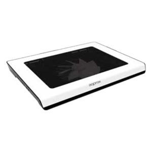 "Approx APPNBC06W Cooler Portátil Blanco 15""  LED Azul"