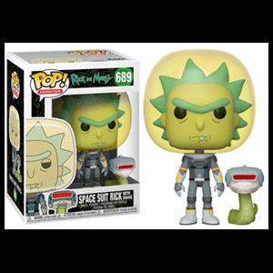 Figura Pop Rick y Morty: Rick Traje Espacial y Serpiente