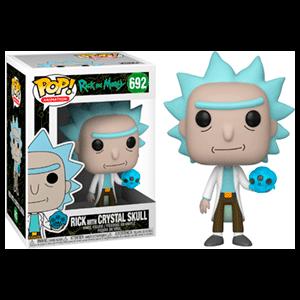 Figura Pop Rick y Morty: Rick con Calavera de Cristal