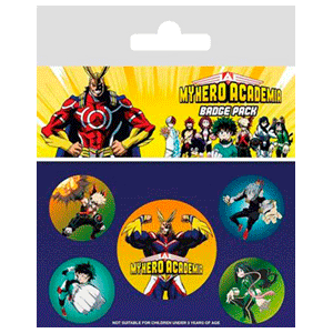 Pack de chapas My Hero Academia