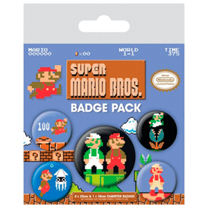 Insignias Super Mario Bros.