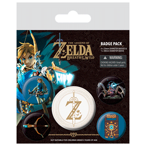 Pack de chapas The Legend of Zelda: Breath Of The Wild