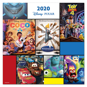 Calendario 2020 Pixar Movies