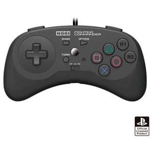 Controller con Cable Hori Fighting Commander PS4-PS3-PC -Licencia oficial-