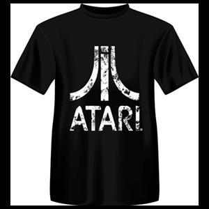 Camiseta Atari Retro Negra: Logo Atari Blanco Talla XL
