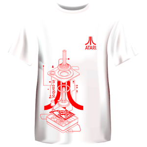 Camiseta Atari Retro Blanca: Controller Talla M