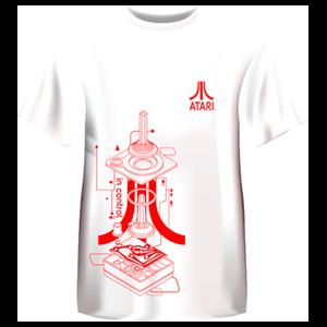 Camiseta Atari Retro Blanca: Controller Talla XL
