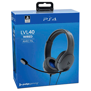 Auriculares PDP LVL40 Gris PS4-PS5 -Licencia oficial-