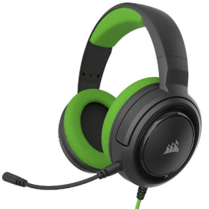 CORSAIR HS35 Green PC-PS4-PS5-XBOX-SWITCH-MOVIL - Auriculares Gaming