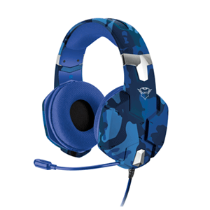Auriculares Trust GXT322B Carus Camo blue - Auriculares Gaming