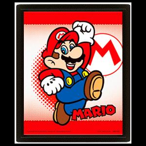 Cuadro 3D Super Mario: Mario y Yoshi