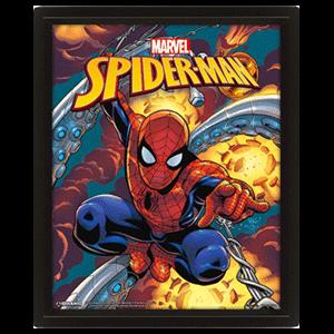 Cuadro 3D Marvel: Spider-Man Blast