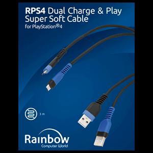 Cable Carga MicroUSB para 2 Mandos Rainbow