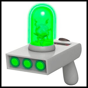 Pistola Portal con Luz y Sonido: Rick y Morty