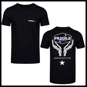 Camiseta Negra Death Stranding: Fragile Express Talla XL