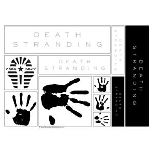 Sticker Death Stranding: Logo and Hands
