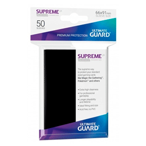 Funda Para Cartas Ultimated Guard Supreme UX Estándar Negro (50)