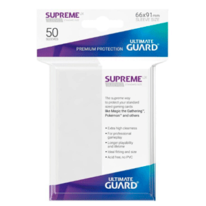 Funda Para Cartas Ultimated Guard Supreme UX Estándar Blanco (50)