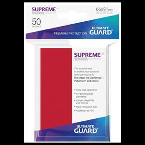 Funda Para Cartas Ultimated Guard Supreme UX Estándar Rojo (50)