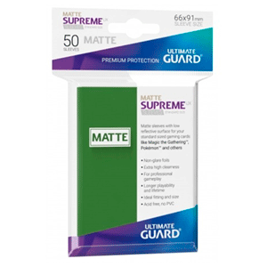 Ultimate Guard Supreme UX Sleeves Standard Size Matte Green (50)