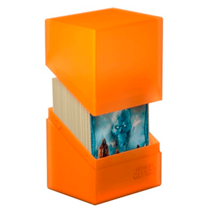 Caja Archivador Ultimated Guard Boulder&trade Deck Case 80+ Estándar Naranja Mate