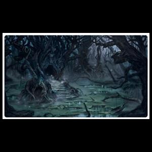 Tapete de Juego Ultimate Guard Lands Edition II Swamp 61 x 35 cm