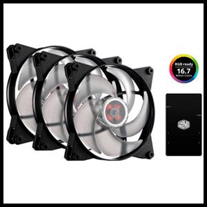 Cooler Master MasterFan Pro 140 Air Pressure RGB Control / 3 Uds - Ventilador de Caja 140mm