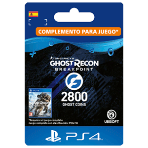 Ghost Recon Breakpoint - 2400 + 400 Ghost Coins PS4