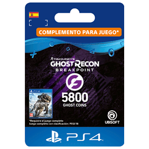 Ghost Recon Breakpoint - 4800 + 1000 Ghost Coins PS4