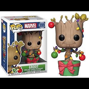 Figura Pop Marvel: Groot con Adornos Navideños
