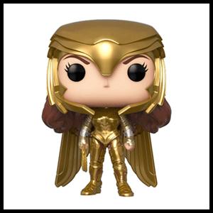 Figura Pop Wonder Woman 1984: Wonder Woman Power Pose con Traje Dorado